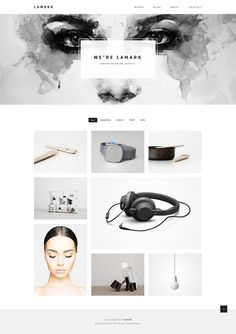 Buy Lamark - Minimal Agency Portfolio Template by layerz on ThemeForest. Lamark is a minimal and creative way for your next project. It's simple, minimalist and looks great on any mobile dev. Coperate Design, Layout Design, Website Design Layout, Web Layout, Menu Design, Design Ideas, Portfolio Website Design, Portfolio Web Design, Fashion Portfolio