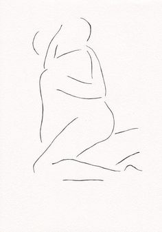Black and white original ink drawing. Erotic bedroom art by siret roots. Small format art is great for creating gallery wall sets. Minimal Art, Outline Art, Minimalist Drawing, Aesthetic Drawing, Abstract Lines, Bedroom Art, Ink Drawings, Erotic Art, Love Art