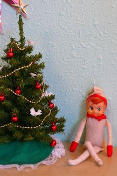 Mini Tree And Elf.