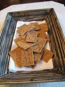 Flax Parmesan Crackers   Buttoni's Low Carb Recipes