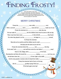 ... picture clue to match. Printable Christmas games, kids winter games