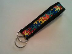 Autism Awareness wristlet keychain by MLCCreations33 on Etsy