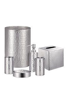 J Queen New York Pressed Metal Silver Bath Accessories