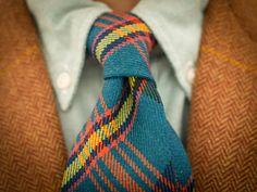 Oh my, Darling is wearing my favorite tie. I love a man in plaid & tartan & tweed.....