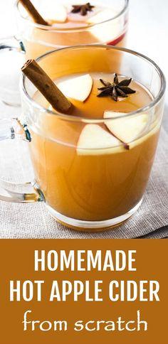 homemade hot apple cider #drinkideas #healthyideas