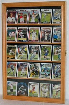 Sports Trading Card Display Case Cabinet