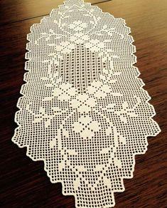Crochet Bikini Pattern, Crochet Lace Edging, Crochet Square Patterns, Crochet Doilies, Crochet Books, Thread Crochet, Crochet Stitches, Crochet Placemats, Crochet Table Runner