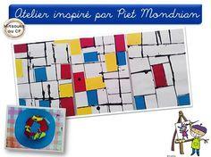 Atelier très simple inspiré par Piet Mondrian ! Plus