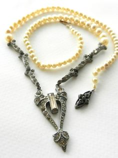 Lovely authentic 1920s era necklace with paste by RAKcreations