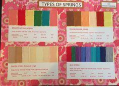 Types of spring  Paintbox Spring Golden Spring Pastel Spring Blue Spring