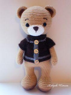 ideas for crochet amigurumi cute dolls Teddy Bear Knitting Pattern, Amigurumi Doll Pattern, Amigurumi Free, Crochet Animal Amigurumi, Crochet Teddy, Crochet Bear, Cute Crochet, Crochet Animals, Knitting Toys