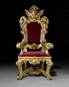 Magnificent Sculpted and Engraved Throne Chair Firenze, Century Aristocratic Furniture Design King On Throne, Royal Throne, Royal Furniture, Antique Furniture, Furniture Sets, Furniture Design, Royal Chair, King Chair, Studio Background Images