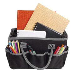 Artist's Loft Fundamentals Tote Bag Craft Organization, Craft Storage, Storage Ideas, Planner Organization, Tote Storage, Gifts For An Artist, Black Tote Bag, Sewing Stores, Creative Gifts
