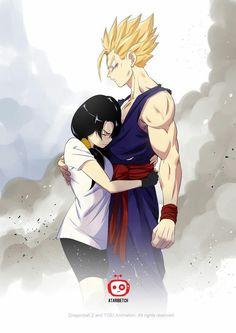 Gohan and Videl (Dragon Ball Z) Cartoon Cartoon, Couple Cartoon, Anime Echii, Anime Comics, Digimon, Photo Dragon, Manga Dbz, Familia Anime, Character Art