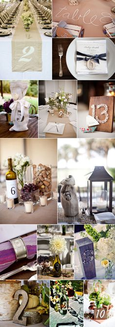 Family Harvest Table Number Ideas