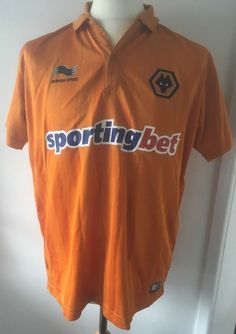 888543a1a41 Wolves Football Shirt Burrda Home size Large 2012 13 Wolverhampton Wanderers