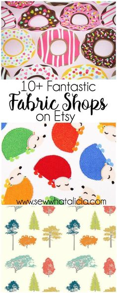 10+ Best Fabric Shops on Etsy: I love to support small business on Etsy. Theses fabric shops are all fantastic and they have so many fun and unique fabrics that you will want to check them all out! Click through for the full list of great fabric shops.  