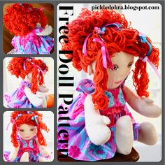 Doll Hair: free pattern and tutorial-Step 1, The Base