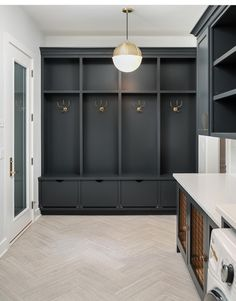 smart mudroom ideas to improve your homeMUDROOM IDEAS - The mudroom is a very important part of your home. With Mudroom you can keep your entire home clean and tidy. Mud room or you Mudroom Cabinets, Mudroom Laundry Room, Laundry Room Design, Mud Room Lockers, Mudroom Cubbies, Mudroom Storage Ideas, Garage Storage, Built In Lockers, Mudrooms With Laundry