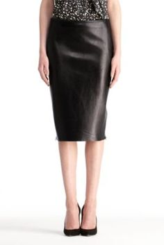 DVF Clover Leather Skirt  Wear it to work and wear it at night... Excellent piece to add to your wardrobe this season.