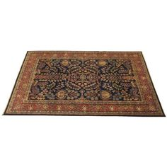 """Indo Sarouk Rug - 8'10"""" x 5'10"""" ($1,390) ❤ liked on Polyvore featuring home, rugs, decor, fillers, interior, handmade rugs, persian area rugs, persian rug, persian style rugs and hand made rugs"""