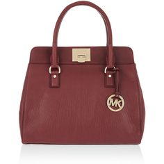MICHAEL Michael Kors Astrid textured-leather tote ($400) ❤ liked on Polyvore