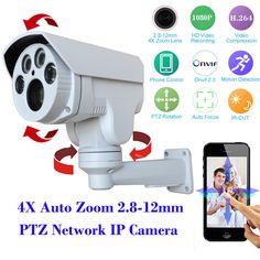 HI3516C+SONY 322 Full HD 1080P PTZ Security IP camera Outdoor 4XAuto Zoom 2.8-12mm Varifocal Lens 2.0MP IR Cut CCTV Camera