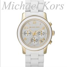 Winter White Michael Kors Watch Absolutely stunning, winter white, Michael Kors watch. This elegant watch is brand new in the box!! The chic, crisp white paired with accents of grays and golds that make this watch absolutely stunning! It screams sophistication and class! This would make an amazing gift. Brand new with tags! This would be the ultimate gift hands- down even if you gift it to yourself! Don't miss this amazing deal ladies! Michael Kors Accessories Watches