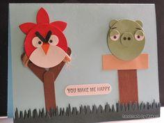 Angry Bird Mania Bday Card