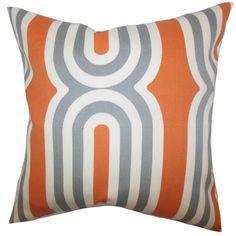 Orange n gray pillow