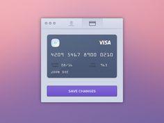 realism site gui: edit credit card (2013-03-21 by ♜ Monsieur Didi @dribbble 994446)