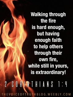2 Corinthians KJV ~ Who comforteth us in all our tribulation, that we may be able to comfort them which are in any trouble, by the comfort wherewith we ourselves are comforted of God. Prayer Verses, Faith Prayer, Bible Verses Quotes, Bible Scriptures, Faith Quotes, Spiritual Quotes, Positive Quotes, Happiness, Thing 1