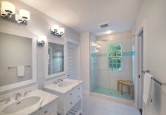 shower accent tile in Bathroom Traditional with glass block window aqua accent