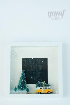 holiday shadowbox
