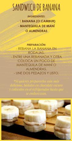 Sandwich de banana - Sascha Fitness