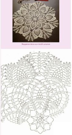 Pineapple Clusters Doily