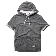 Short Sleeve Crew Pocket Sweatshirt from Abercrombie & Fitch. Saved to Epic Wishlist. Short Sleeve Hoodie, All American Clothing, Trends, Athleisure, Nike Jacket, Like4like, Menswear, Mens Fashion, Pullover