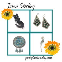 Sterling silver jewelry from some of the silversmiths of Taxco Mexico.  Great blog!  Enjoyed the pictures and the information!
