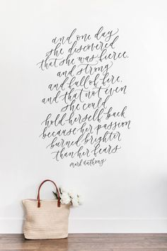 Mark Anthony quote, hand lettered quote, calligraphy