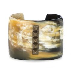 2inch Horn Cuff with Center Stud Line