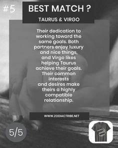 Find your Zodiac Signs Compatibility for all zodiac signs, for couples, relationships and love matches and find your Couple shirts to match. Taurus Virgo Compatibility, Virgo And Taurus, Astrology Taurus, Taurus Love, Virgo Zodiac, Aquarius Relationship, Capricorn Relationships, Relationship Facts, Couple Relationship
