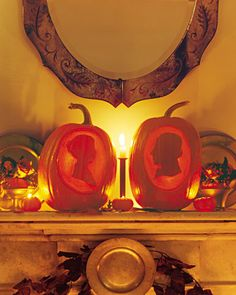 Love these silhouette pumpkins. Martha's tutorial on how to make them.