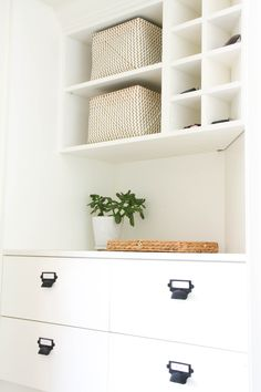 Our fixer upper's mudroom reveal! Full of small mudroom ideas, mudroom organization, mudroom storage, a mudroom bench, and FREE tips & tricks we used!