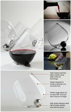 Aura Glass is a novel rotating wine glass that enhances the wine by aerating it while enhancing the experience of enjoying a drink.