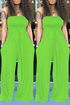 lovelywholesale / Cheap Jumpsuit Lovely Casual Off The Shoulder Green One-piece Jumpsuit Curvy Outfits, Classy Outfits, Stylish Outfits, Fashion Outfits, Shoes Wholesale, Wholesale Clothing, Cheap Shoes, Cheap Clothes, African Fashion Traditional