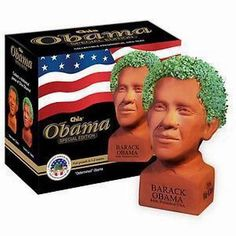 PRESIDENT BARACK OBAMA CHIA PET PULLED FROM THE SHELVES HOT!!!