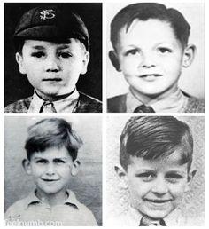 The Beatles as children   (clockwise from top left): John Lennon, Paul McCartney, Ringo Starr and George Harrison