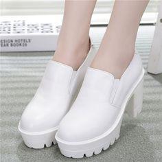 Creepers Fashion Korean Vintage Shoes For Women Flatform Elastic Band High Sandal Summer 2015 Chunky Heel Platform Pumps