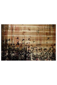 ::Aspen Wood Brown Distressed Wood Wall Art