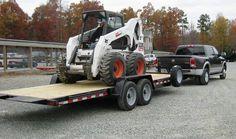 Our best selling model, the wood deck fixed front tilt equipment trailer hauling a Bobcat Skidsteer. Check out more equipment trailer models at www.laufmantrailers.com/equipment-trailers Aluminum Trailer, Equipment Trailers, Diesel Trucks, Tilt, Welding, Detective, 4x4, Monster Trucks, Deck